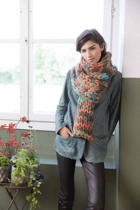 Écharpe à tricoter chez Makerist