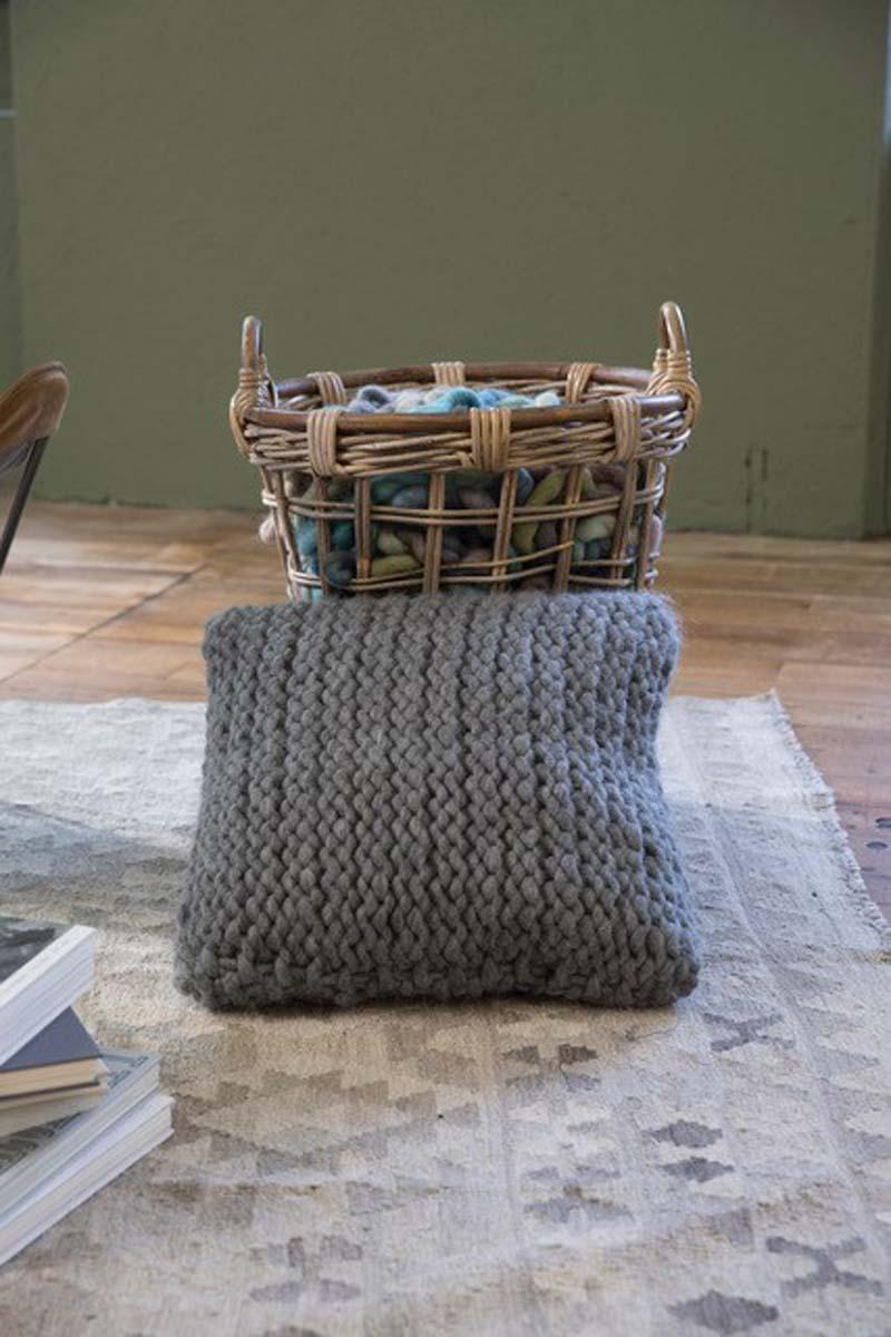 Coussin à tricoter