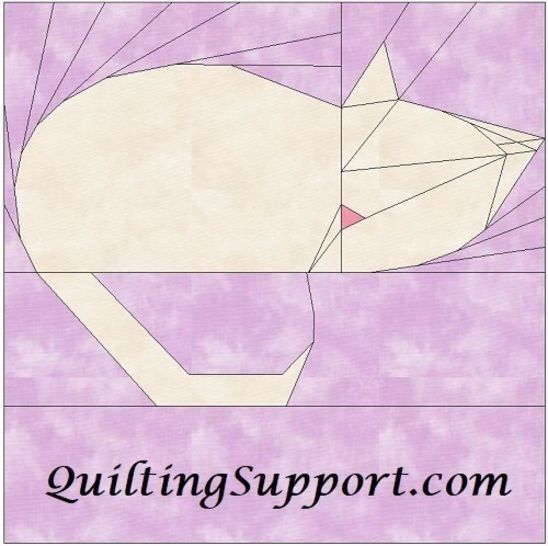 Kitty 15 Inch Quilting Block Template Pattern at Makerist - Image 1