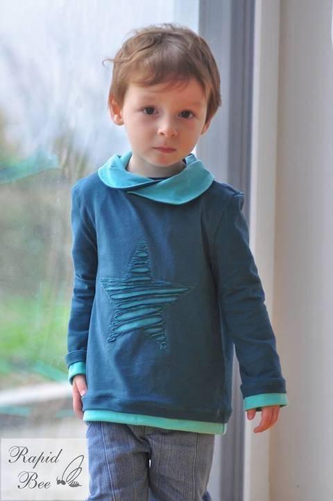 "eBook Shirt ""Mini Mister Hem"" von Lennähna Größen 86 - 170 bei Makerist"
