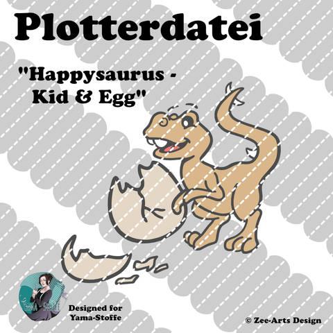 Plotterdatei Happysaurus (Kid & Egg)
