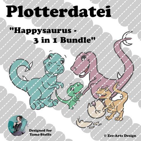 Plotterdatei Happysaurus (3 in 1 Bundle)