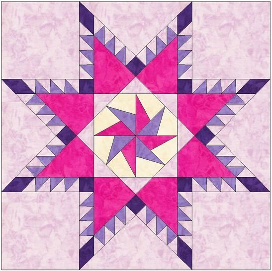 Feathered Pinwheel Star 10 Inch Block Paper Piecing Foundation Quilt Pattern at Makerist - Image 1