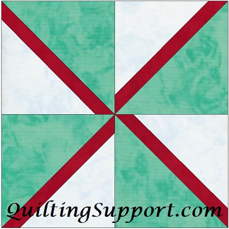 Seasons Greetings Pinwheel 15 Inch Template Block Quilting Pattern