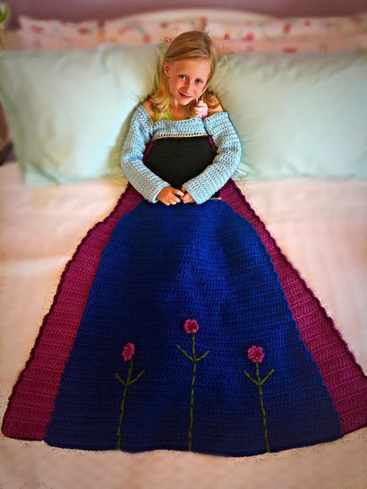Anna Princess Dress Blanket Crochet Pattern  at Makerist - Image 1