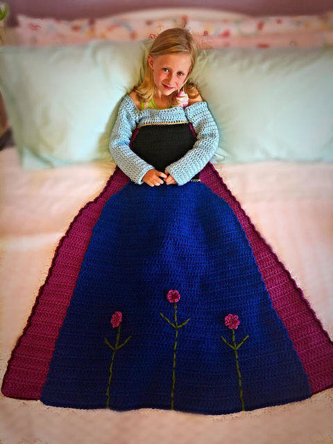 Anna Princess Dress Blanket Crochet Pattern