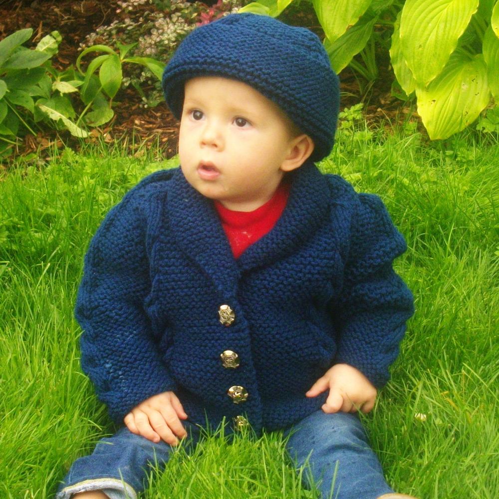 Muireann child cardigan jacket and hat - knitting pattern