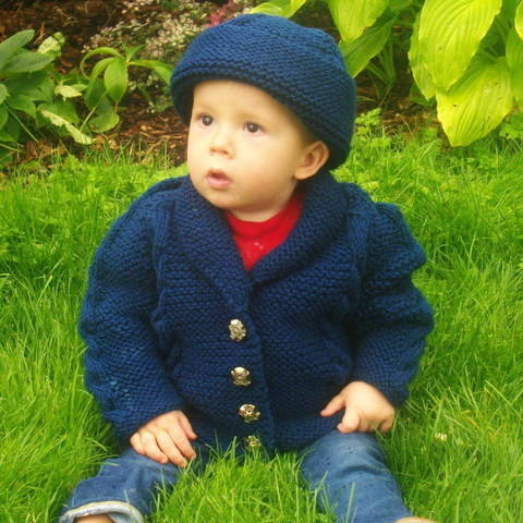 Muireann child cardigan jacket and hat - knitting pattern