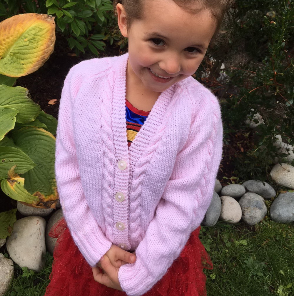 Sorcha girls cable cardigan - knitting pattern