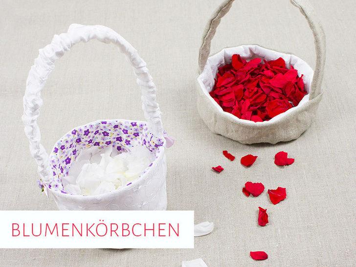 Blumenkörbchen für die Hochzeit in 2 Varianten bei Makerist - Bild 1