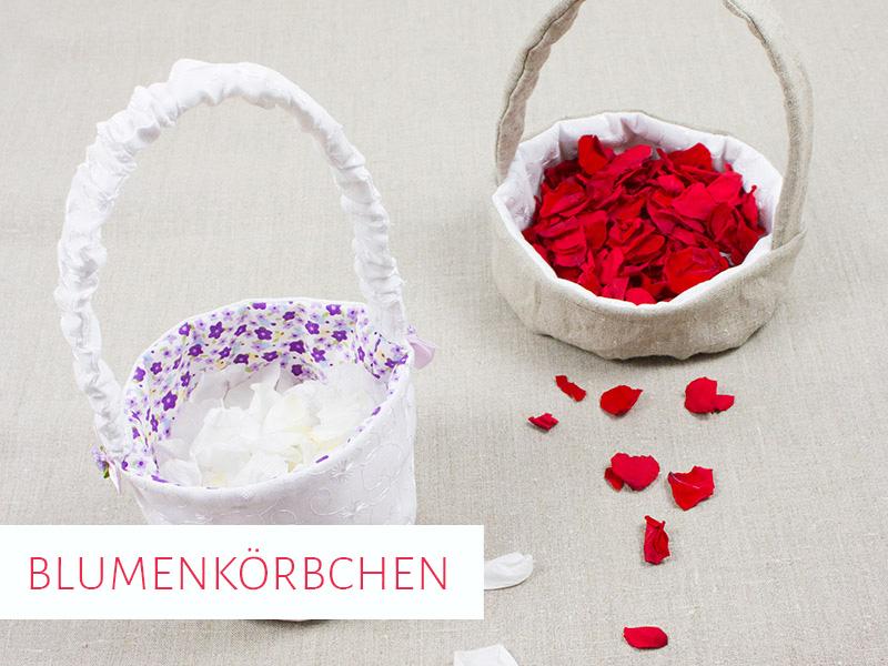 Blumenkörbchen für die Hochzeit in 2 Varianten