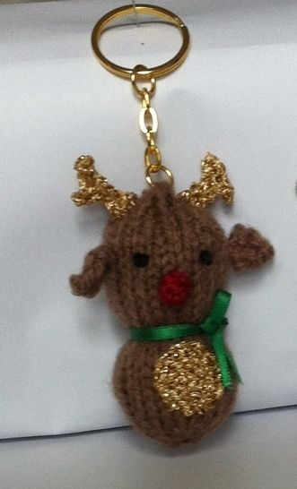 Tiny Rudolph keyring/ tree ornament at Makerist - Image 1