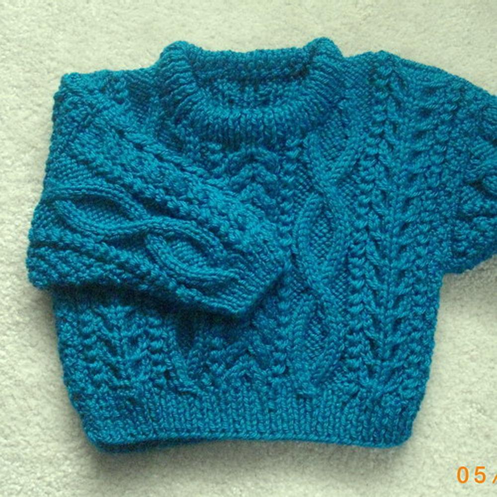 Daithi baby and toddler sweater - knitting pattern