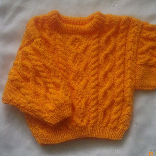 Declan baby and toddler sweater - knitting pattern at Makerist - Image 1