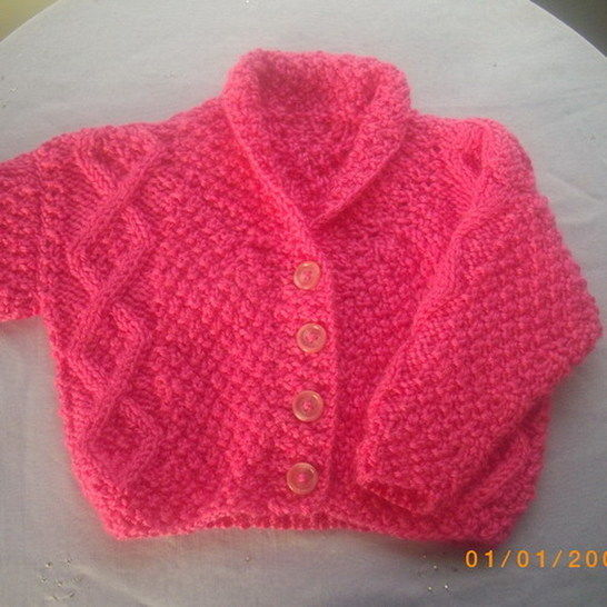 Aine baby and toddler cardigan - knitting pattern at Makerist - Image 1