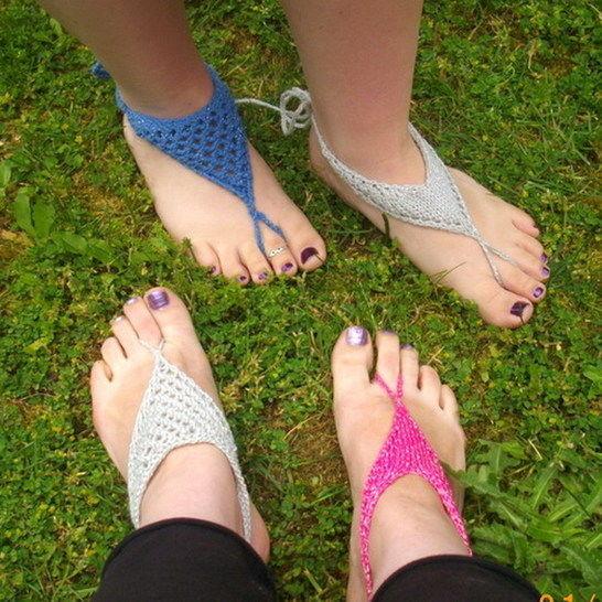 Women's barefoot sandals - knitting pattern at Makerist - Image 1