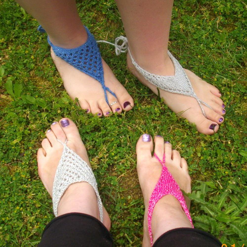 Women's barefoot sandals - knitting pattern