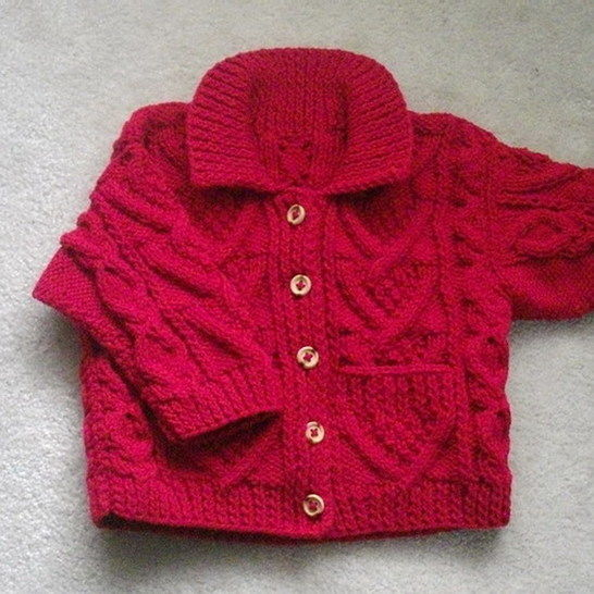 Garrett toddler aran jacket - knitting pattern at Makerist - Image 1