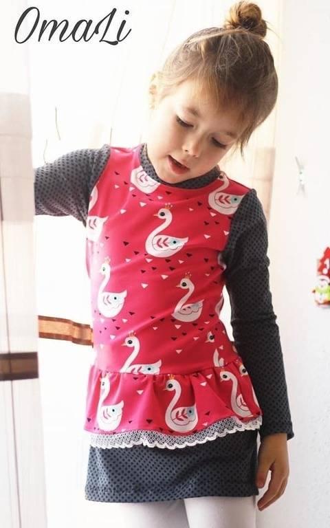 """eBook Shirt/Kleid """"Miss Peplum"""" von Lennähna Größen 86 - 170 bei Makerist"""
