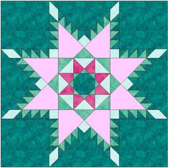 Peaceful hours Feathered Star Paper Piecing Foundation 10 Inch Block Pattern at Makerist - Image 1