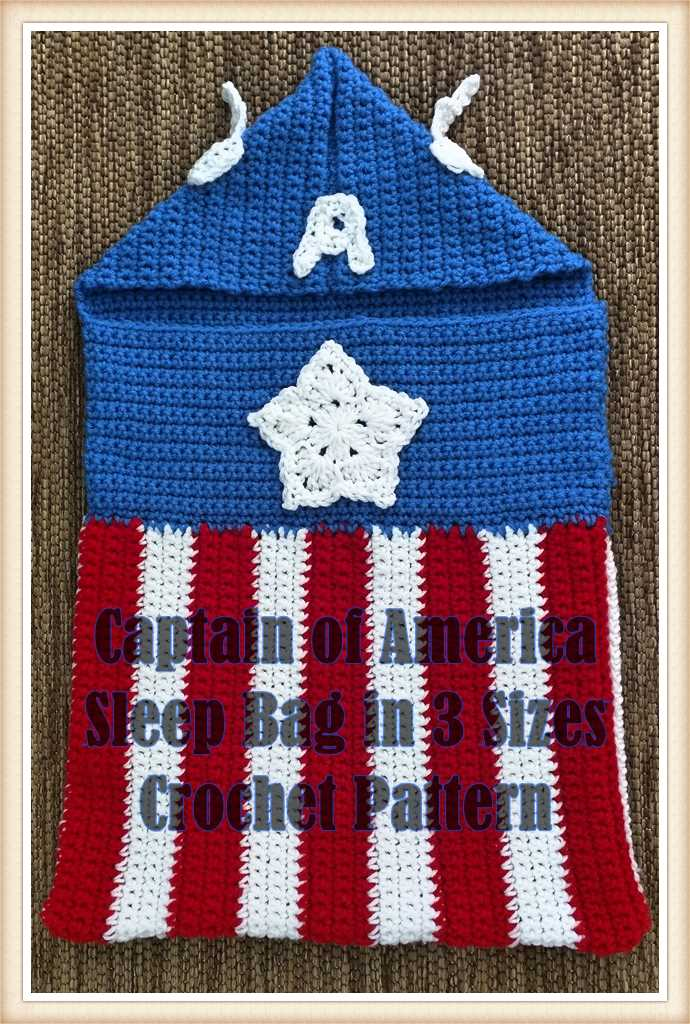 Captain of Americas Baby Bunting Crochet Pattern