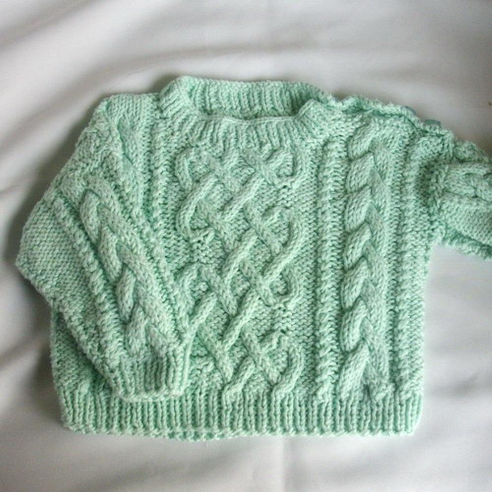 Garbhan infant aran sweater - knitting pattern