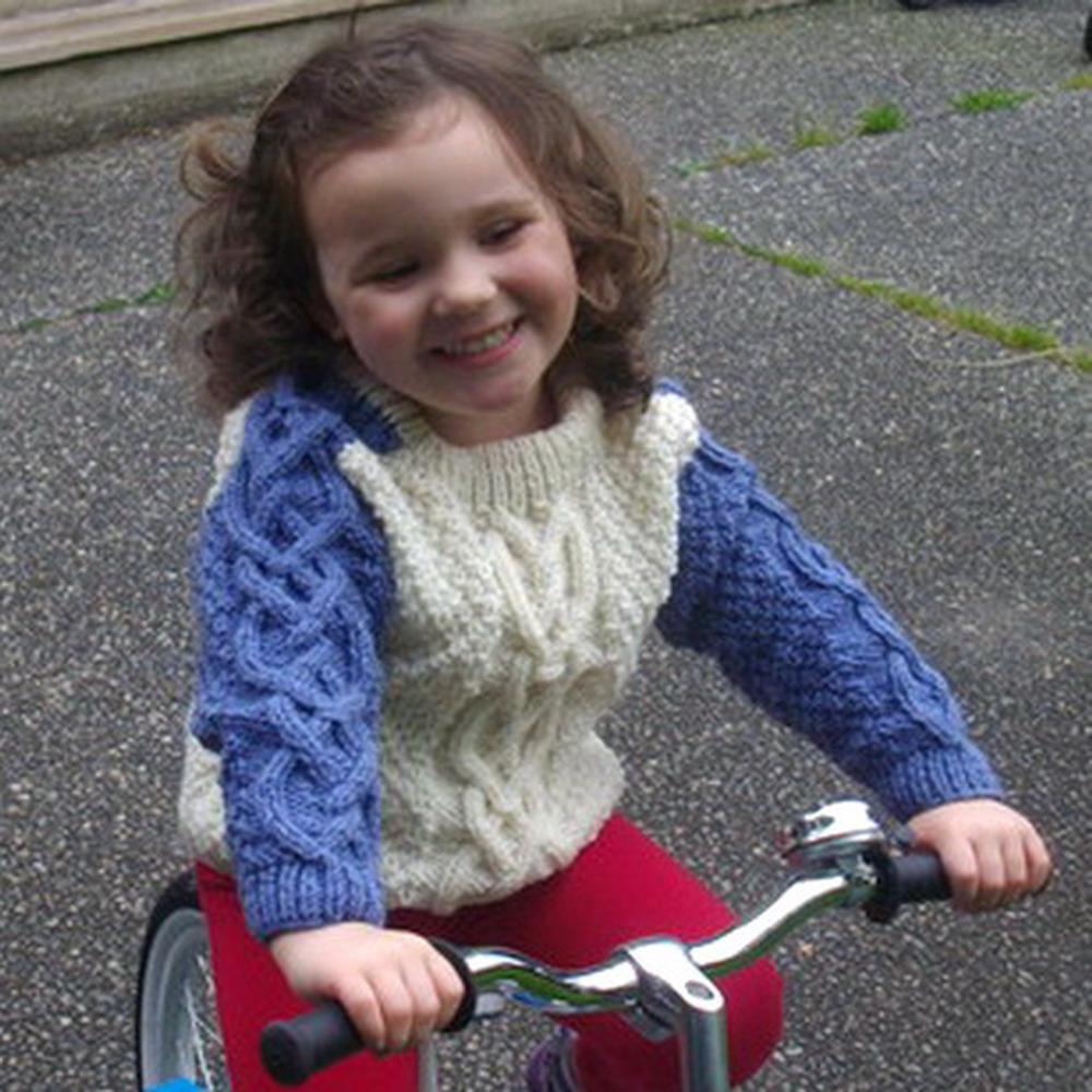 Conor child's aran sweater - knitting pattern
