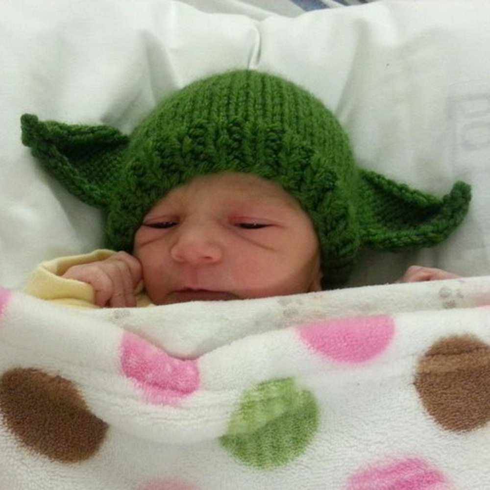 Baby and toddler hat with ears - knitting pattern