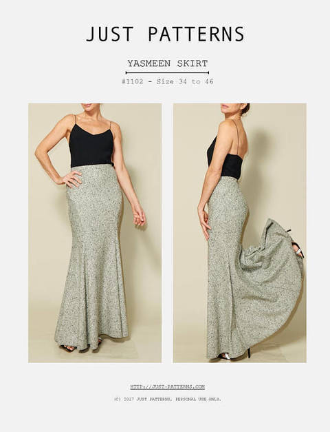 Just Patterns Yasmeen Skirt PDF Sewing Pattern at Makerist