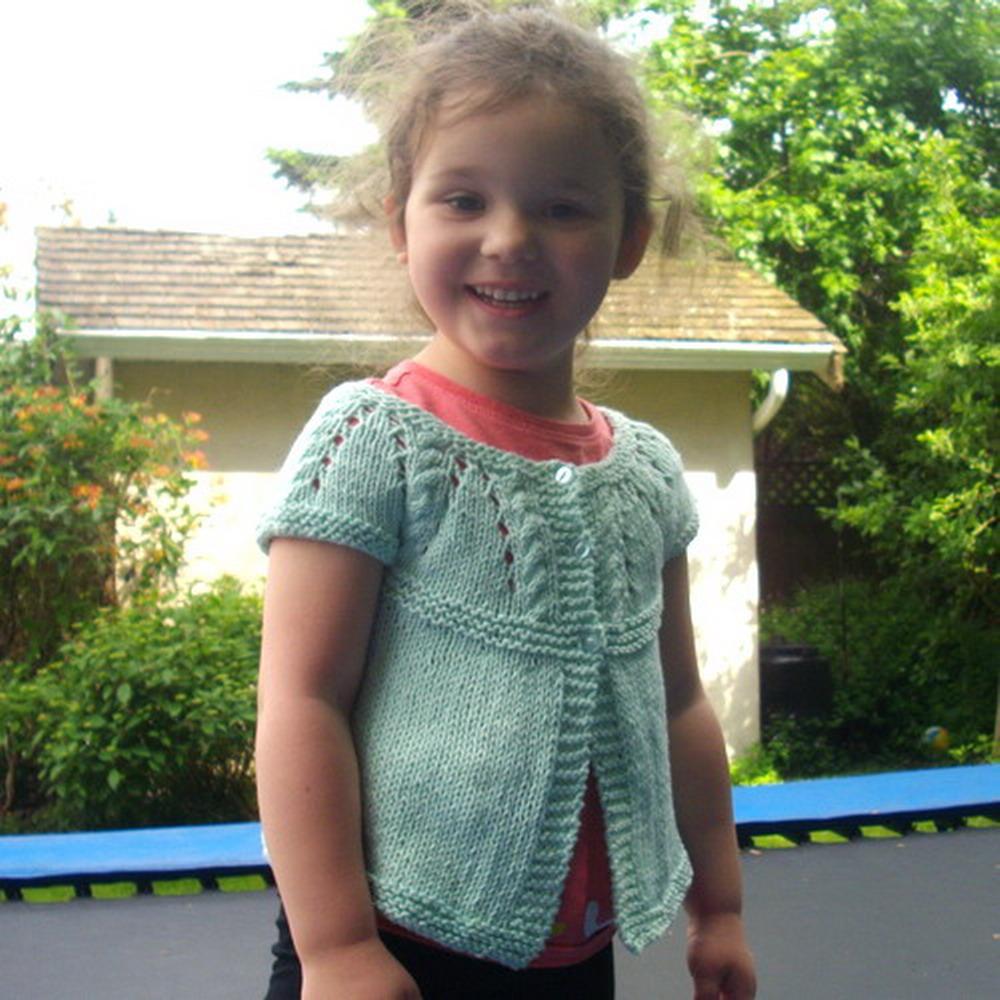 Baby & toddler short sleeve cardigan - knitting pattern