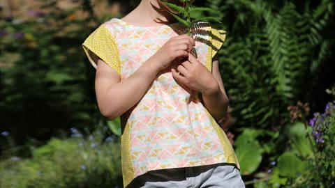 Sommerbluse für Mädchen FRIDA bei Makerist