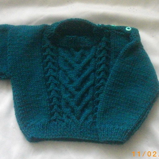 Eimar baby and toddler sweater - knitting pattern at Makerist - Image 1