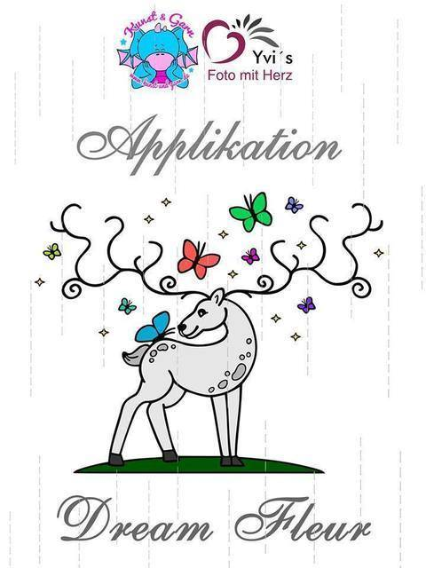 Applikationsvorlage Hirsch Dream Fleur