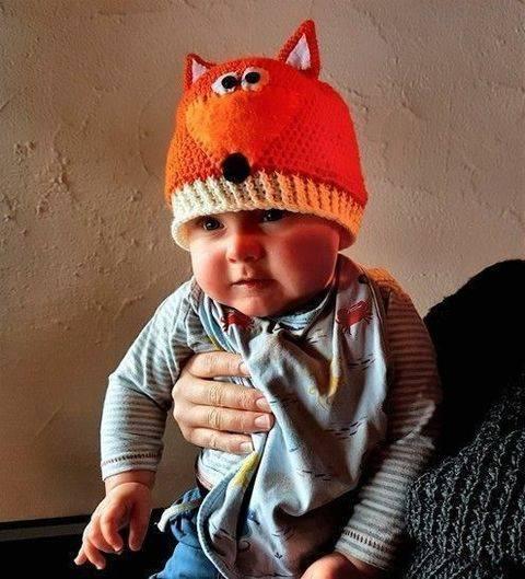 Baby/ Kinder Fuchsmütze Häkelanleitung