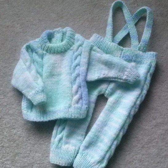Sean baby sweater and leggings - knitting pattern at Makerist - Image 1