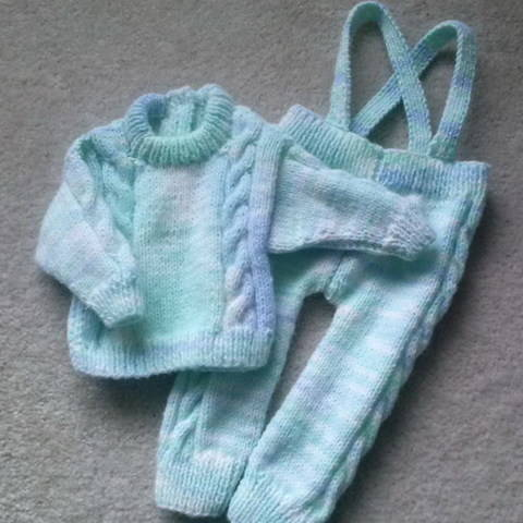Sean baby sweater and leggings - knitting pattern