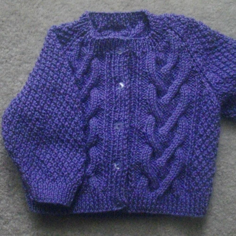 Cliodhna toddler cardigan - knitting pattern