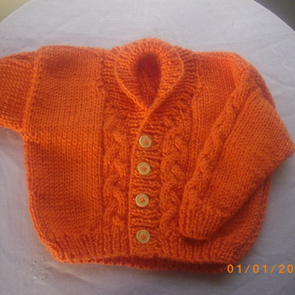 Tomas childs cardigan - knitting pattern