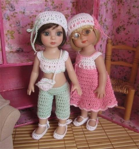 Pastel- Crochet outfit for Ann Estelle or Patsy Doll
