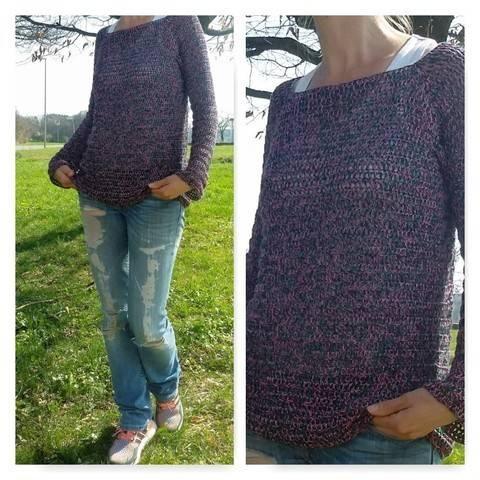 "Crochet Pattern Sweater ""Spring"" at Makerist"