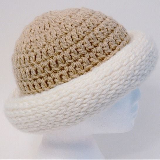 Easy Chunky Roll Brim Hat and Scarf #187 at Makerist - Image 1