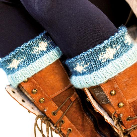 Stiefelstulpen/Wadenwärmer Schneeflocke  bei Makerist - Bild 1