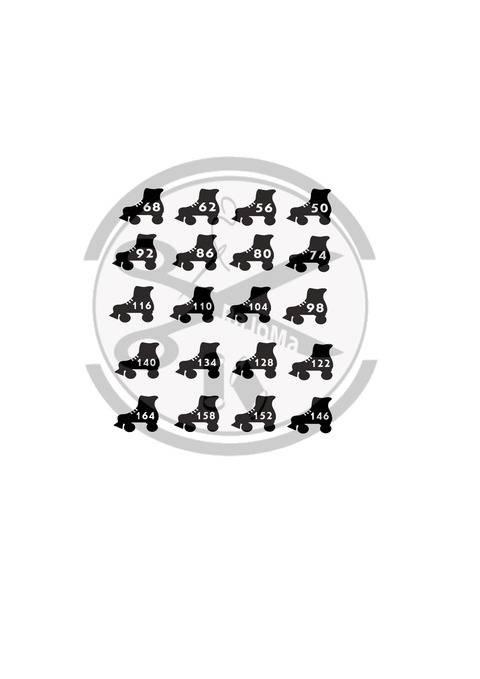 Plottdatei Größen-Label Rollschuh bei Makerist