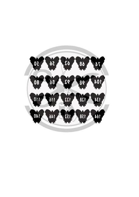 Plottdatei Größen-Label Schmetterling bei Makerist
