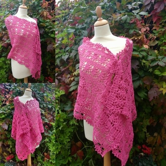Rosy Crochet Wrap Pattern at Makerist - Image 1
