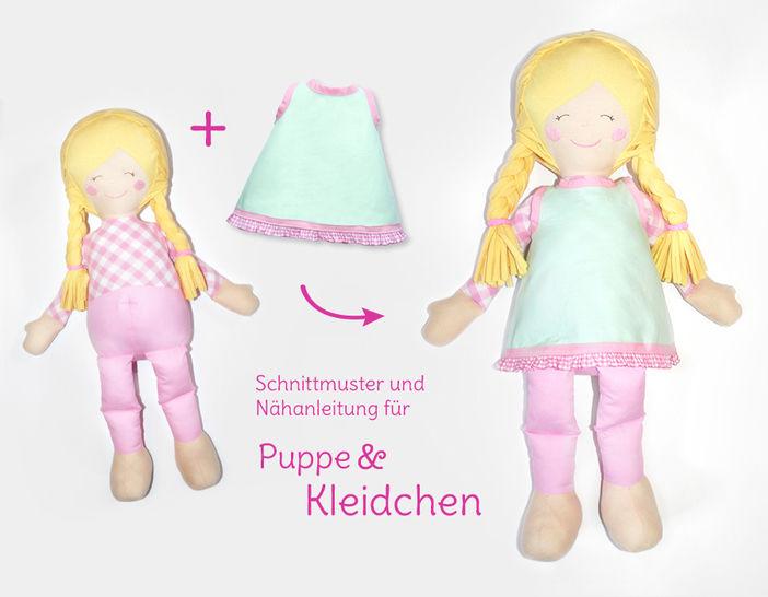 """Nähanleitung und Schnittmuster Stoffpuppe """"Lulu""""  bei Makerist - Bild 1"""