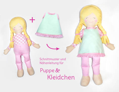 "Nähanleitung und Schnittmuster Stoffpuppe ""Lulu""  bei Makerist"