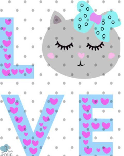 Love Cat Plottdatei