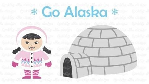 Plotterdatei Alaska Eskimo Mädchen bei Makerist