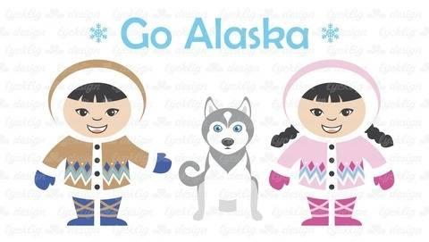 Plotterdatei Alaska Eskimo Junge und Mädchen bei Makerist